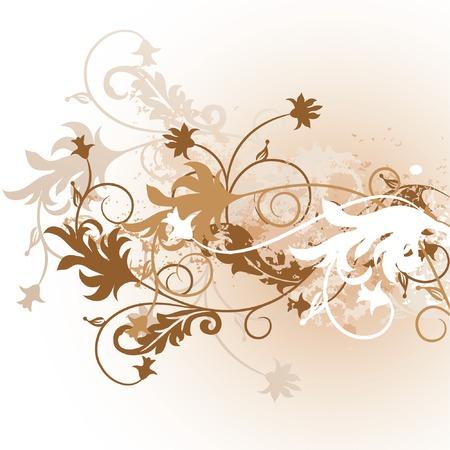 Grunge floral background, vector illustration Stock Vector - 1809442