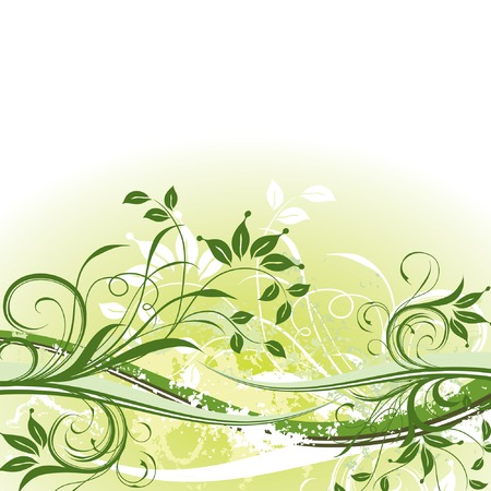 Grunge floral background, vector illustration  Stock Vector - 2004568