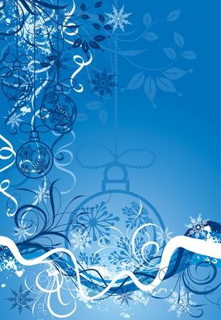 Christmas background with baubles, vector illustration Stock Vector - 2004577
