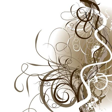 Grunge floral background, vector illustration  Illustration