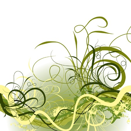 Grunge floral background, vector illustration  Stock Vector - 2046380