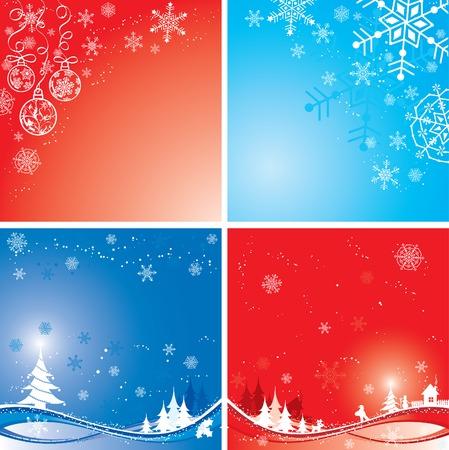Christmas winter background, vector illustration Stock Vector - 2094271