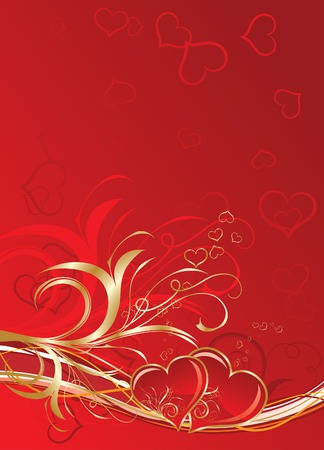 Valentines floral background, vector illustration Vector
