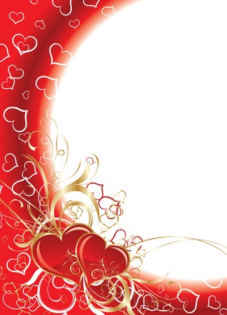 Valentines floral background, vector illustration