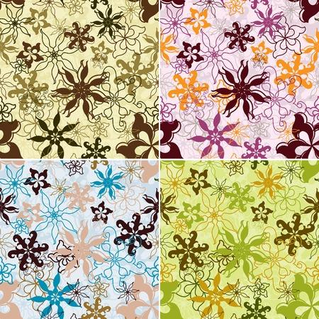 Retro floral pattern, seamless, vector illustration Vector