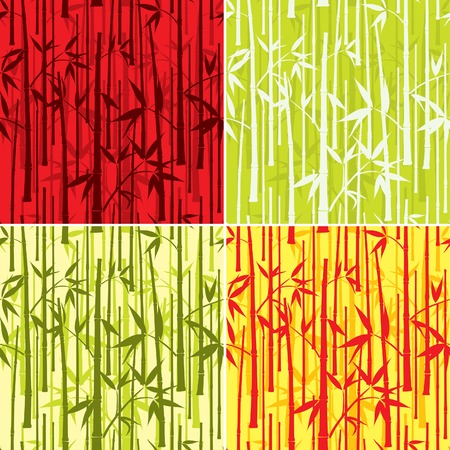 Bamboo pattern, seamless, vector illustration Vector