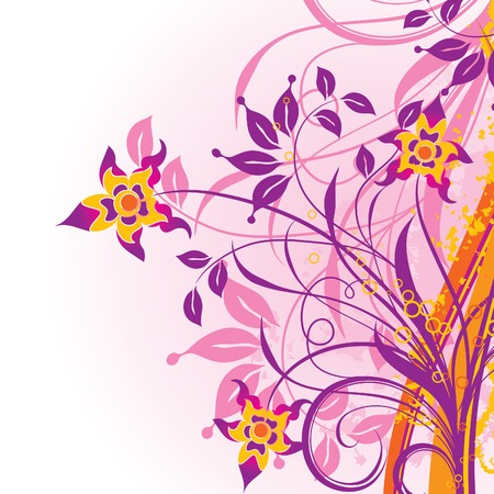 Grunge floral background, vector illustration  Stock Vector - 2901947