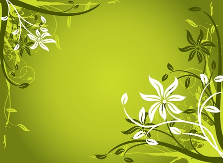 Floral background, frame, vector illustration Stock Vector - 2901954