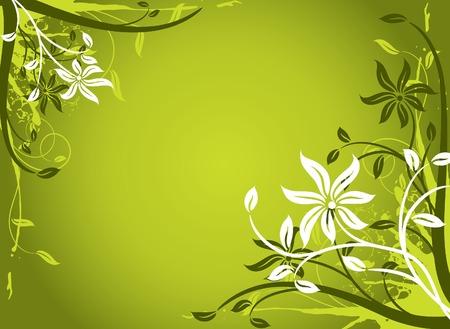 Floral background, frame, vector illustration Stock Vector - 2901954