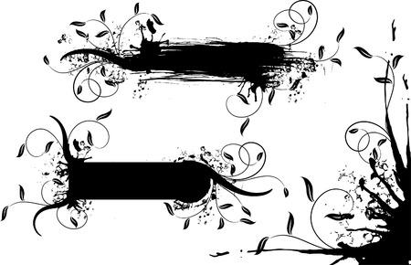 Grunge floral background, vector illustration Stock Vector - 2901983