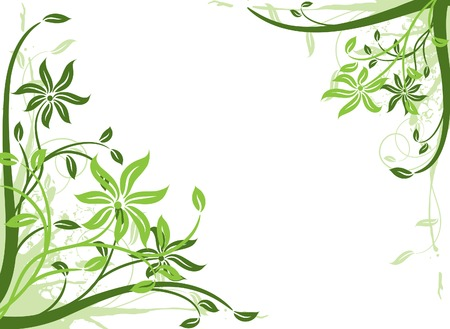 Floral background, frame, vector illustration  Stock Vector - 2901948