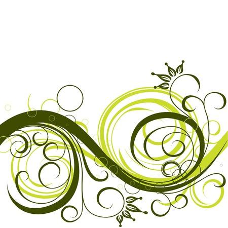 Decorative floral background, vector illustration  Vector