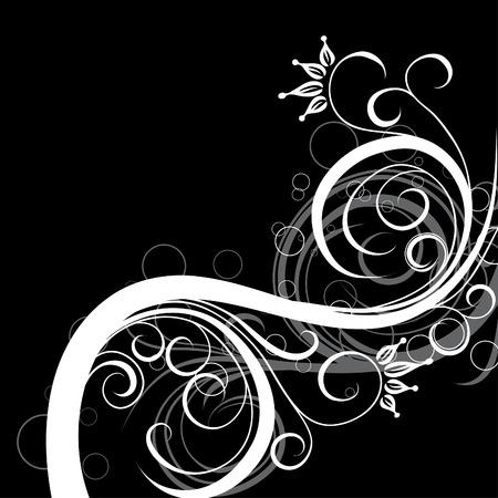 Decorative floral background, vector illustration  Ilustrace