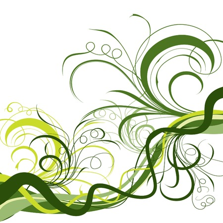 Decorative floral background, vector illustration  Illustration