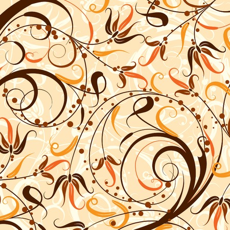 Decorative floral pattern, vector illustration  Vector