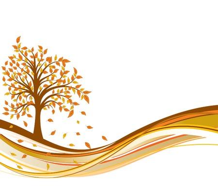 Tree autumn background, vector illustration  Vector