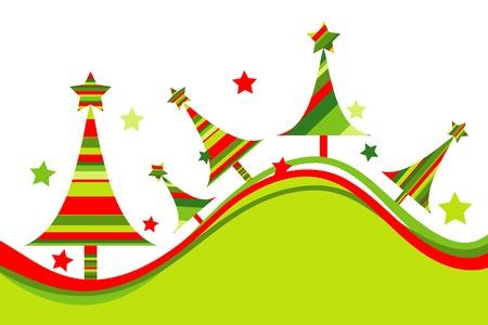 Christmas tree background, vector illustration  Vector