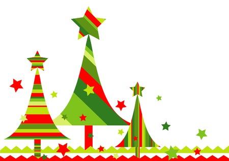 christmas vector: Christmas tree background, vector illustration