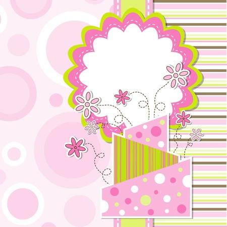 Template greeting card Stock Vector - 9876700