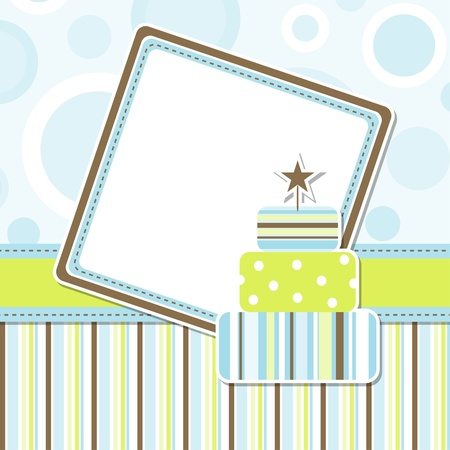 Template greeting card Stock Vector - 9876688