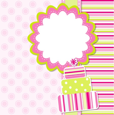 Template greeting card Stock Vector - 9876693