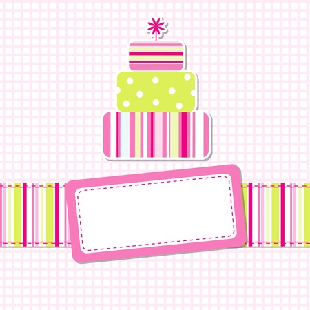 Template greeting card Stock Vector - 9876745