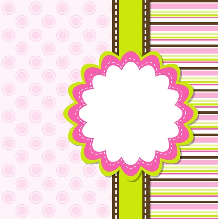 Template greeting card Stock Vector - 9876744