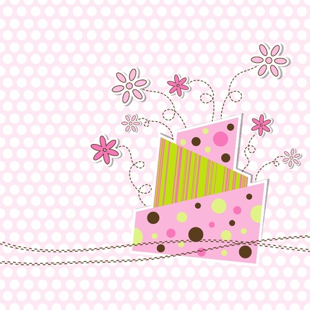 Template greeting card Illustration