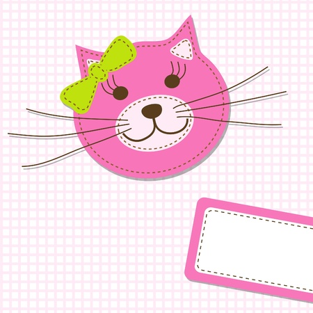 Template greeting card Stock Vector - 9876800