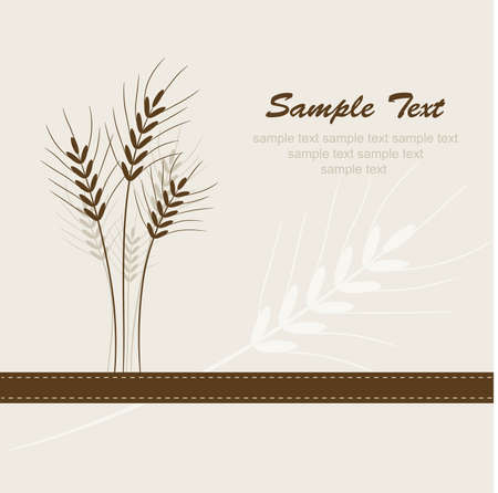 Abstract wheat background Stock Vector - 10069809
