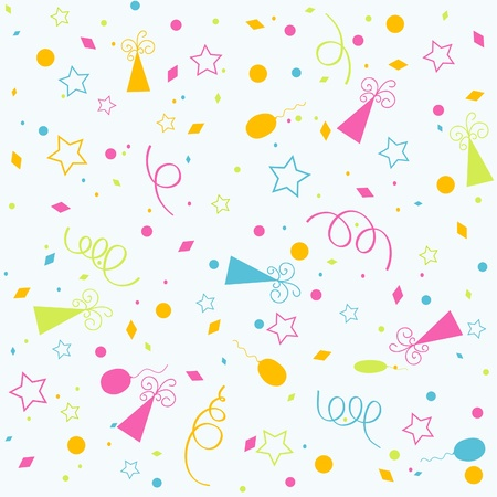 confetti background: Template birthday background