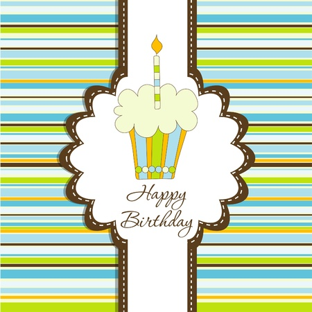 Template greeting card Stock Vector - 10069807