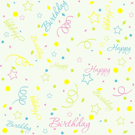 Template birthday background, vector illustration Stock Vector - 10264375