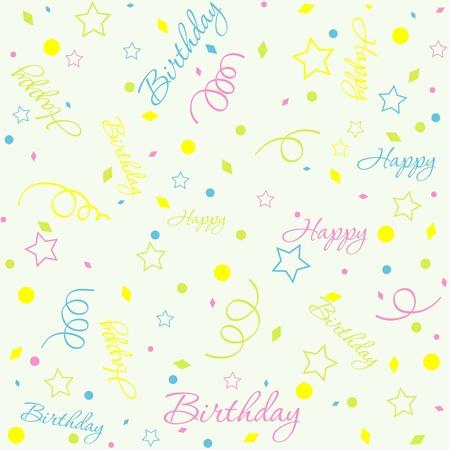 Template birthday background, vector illustration Stock Vector - 10264375
