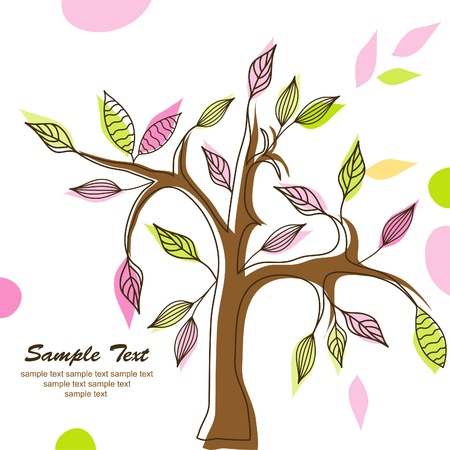 bstract: �bstract tree background, vector illustration