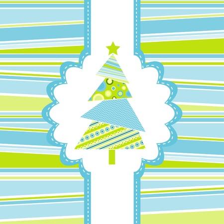 Template christmas greeting card, vector illustration, eps10 Vector