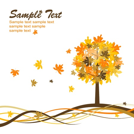 Maple autumn background. Stock Vector - 10556977