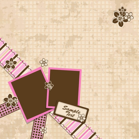 Template scrap card. Vector