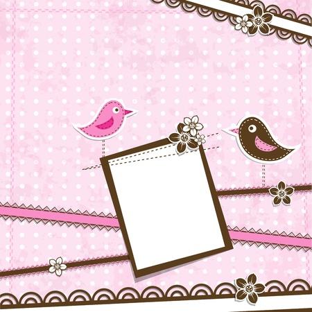 postcard template: Template greeting card. Illustration