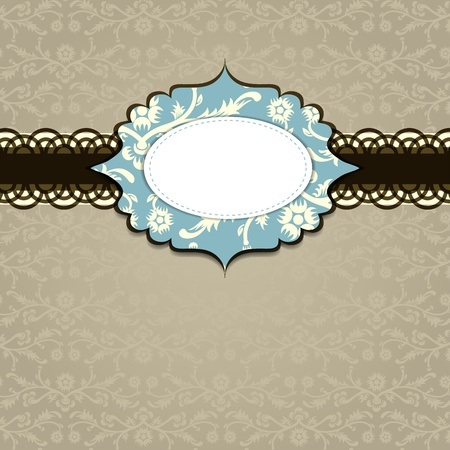 Template greeting card. Vector