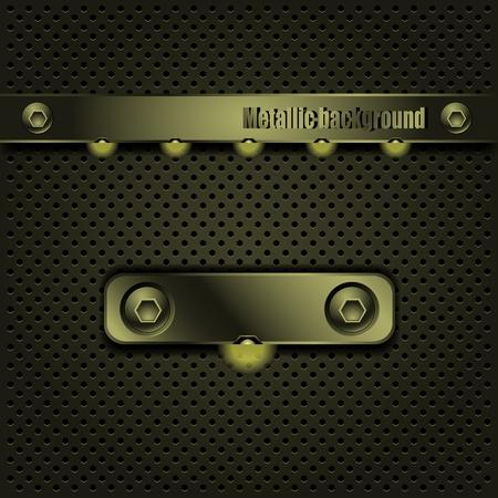 oxidized: Template metallic backlit background.