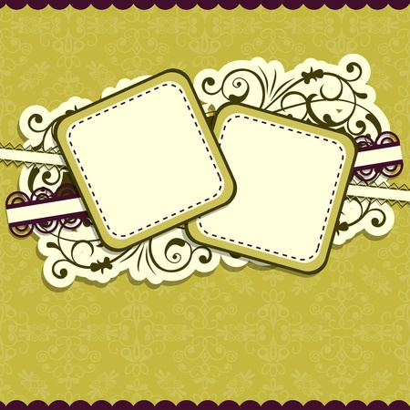 Template greeting card. Stock Vector - 10557022