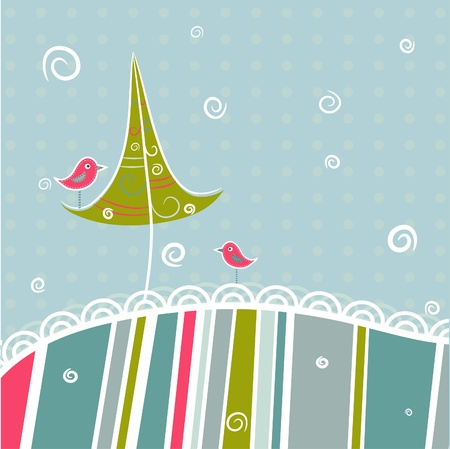 Template christmas greeting card, vector illustration Vector