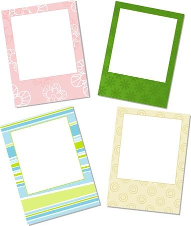 Template photo frames, vector illustration  Vector