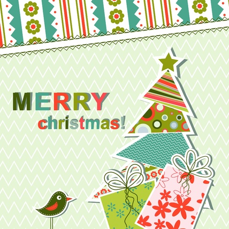 bullfinch: Template christmas greeting card