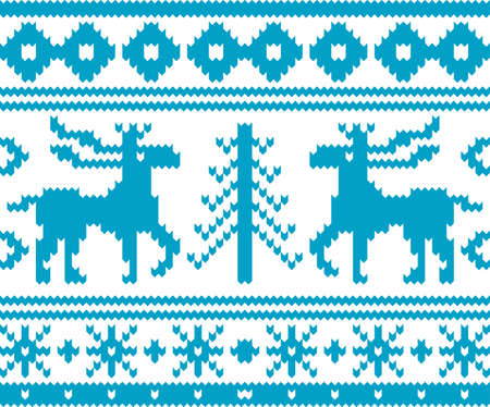 knitwear: Seamless knitted christmas pattern