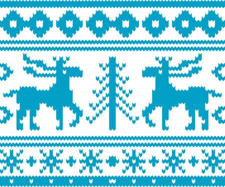tejidos de punto: Tejido sin costuras patr�n de Navidad