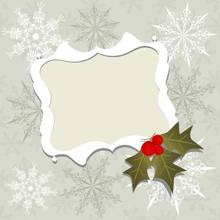 holiday invitation: Template christmas greeting card, vector illustration