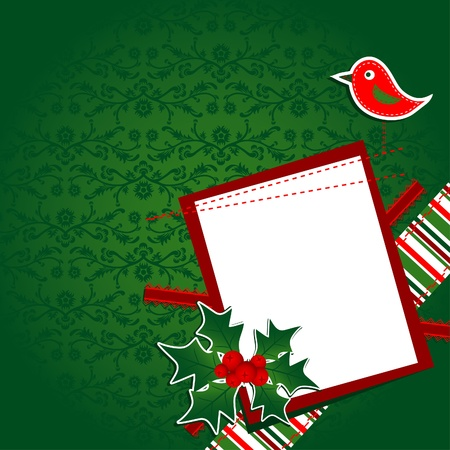 Template christmas greeting card, vector illustration Stock Vector - 11184484