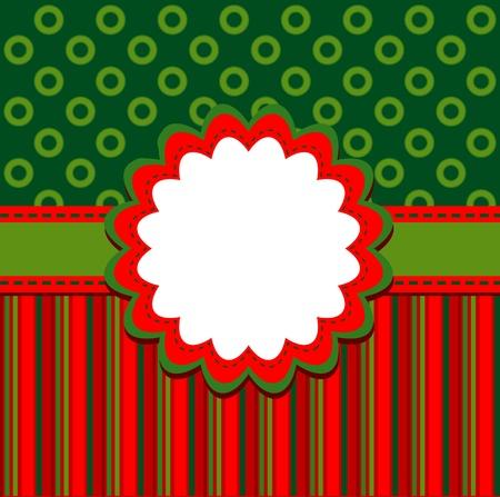 cute border: Template christmas greeting card, vector illustration